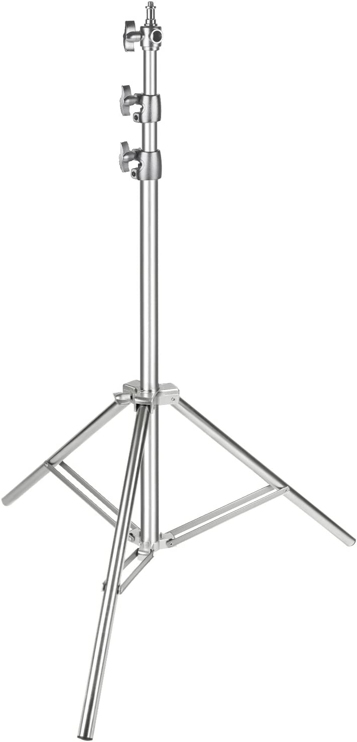 Neewer Stainless Steel Light Stand, 86.6 inches/220 Centimeters Foldable and Portable Heavy Duty Stand for Studio Softbox, Monolight and Other Photographic Equipment (Silver)