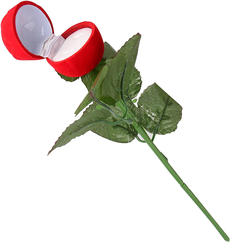 Afufu Ringschatulle Rose Kopf mit Lange Stiel Langstielige Blume Schmuckschachtel Ringetuis Ringbox Ringschachtel Verpackung f/ür Hochzeit Ringe//Valentinstag//Verlobungsring