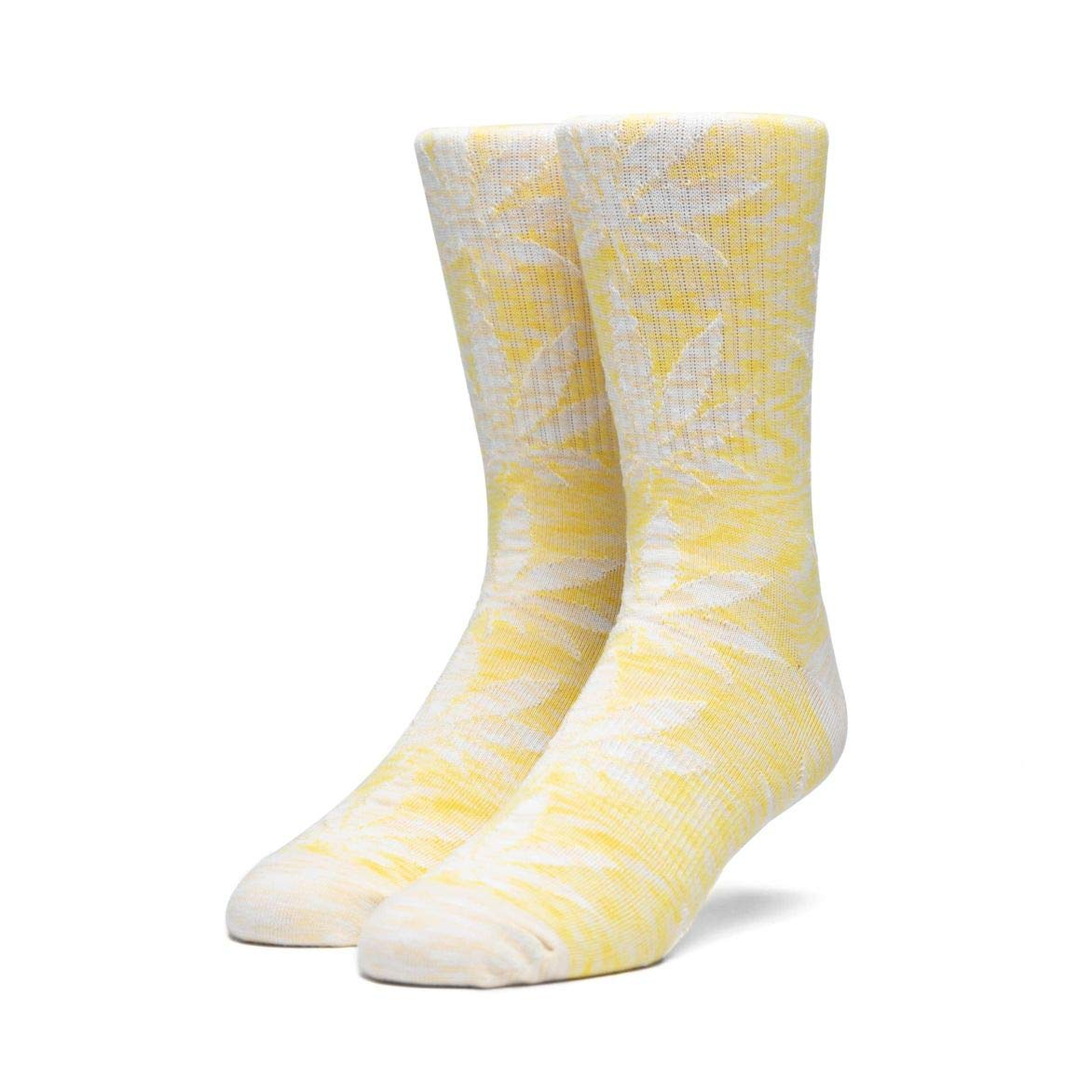Aurora Yellow Huf Mens Plantlife Full Melange Sock OFA