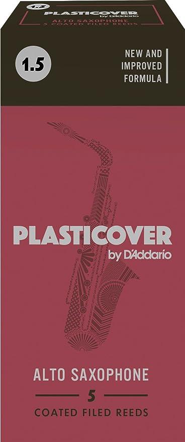 5-pack Rico Plasticover Alto Saxophone Reeds Strength 2.5