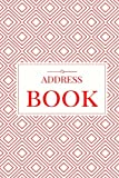 Red Address Book: For Contacts, Addresses, Phone Numbers, Emails & Birthdays (Elite Address Book)