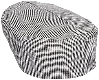 Chef Revival H009 Poly Cotton Blend Pill Box Hat, X-Large, Hounds Tooth