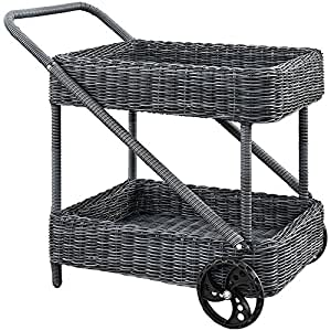 "Outdoor Patio Beverage Cart Gray Dimensions: 33""W X 22.5""D X 34.5""H Weight: 25 Lbs"