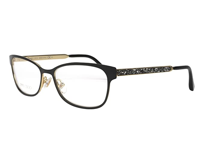 9a3594008b Image Unavailable. Image not available for. Colour  Jimmy Choo frame (JC-203  003) Metal Matt Black - Gold