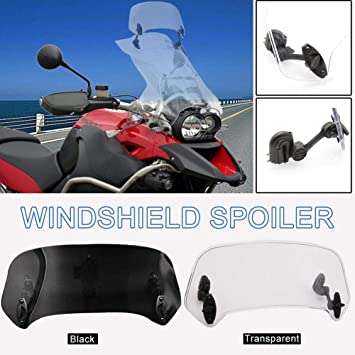 Windschutz f/ür Yamaha 155 f/ür N-MAX 125 16-18 Draulic Motorrad Windschutzscheibe Universal Verstellbarer Clip-On-Deflektor