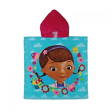Doctora Juguetes 2203001229 - Poncho toalla de playa para niños, color azul, capucha color