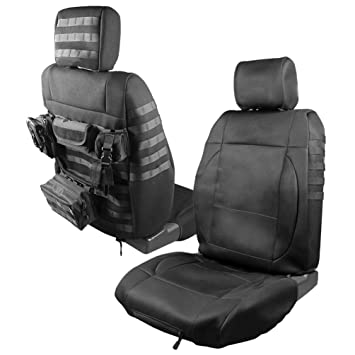 2x Front Seat Covers Case With 5 Pouches For 20072017 Jeep Wrangler 2