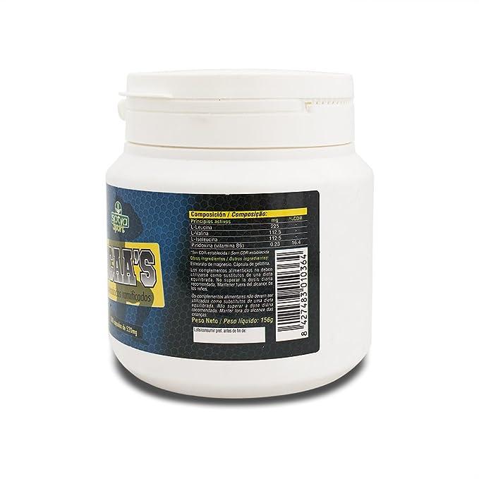 Sotya BCAAS, Aminoácidos Ramificados, 300 Cápsulas, 520 mg: Amazon.es: Salud y cuidado personal