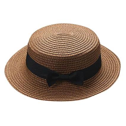 ZARLLE Sombrero De Paja ala Ancha Paja Bowknot Transpirable Sombrero  Sombreros para El Sol del Verano db665f27cef