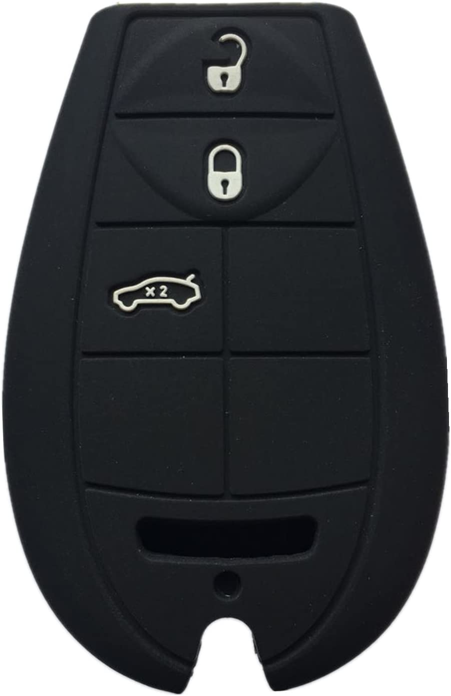 Rpkey Silicone Keyless Entry Remote Control Key Fob Cover Case protector For Chrysler 300 Dodge Challenger Charger Journey Magnum M3N5WY783X IYZ-C01C