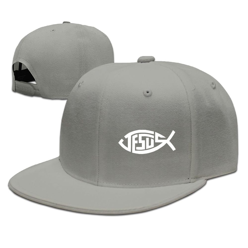 Michgton Jesus Christian Fishs Unisex Snapback Adjustable Flat Bill Baseball Cap
