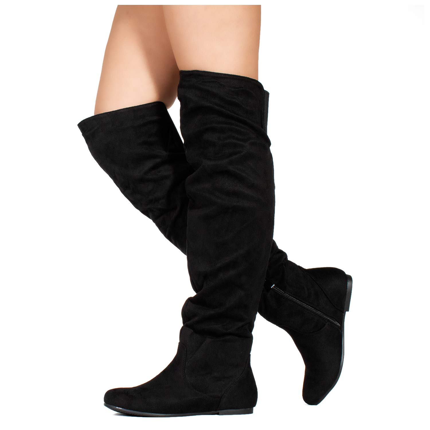 b6b439315df RF ROOM OF FASHION Women s Stretchy Over The Knee Slouchy Boots product  image