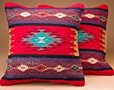 Mission Del Rey Pair -Southwestern Woven Pillow Covers -Mimbres Review