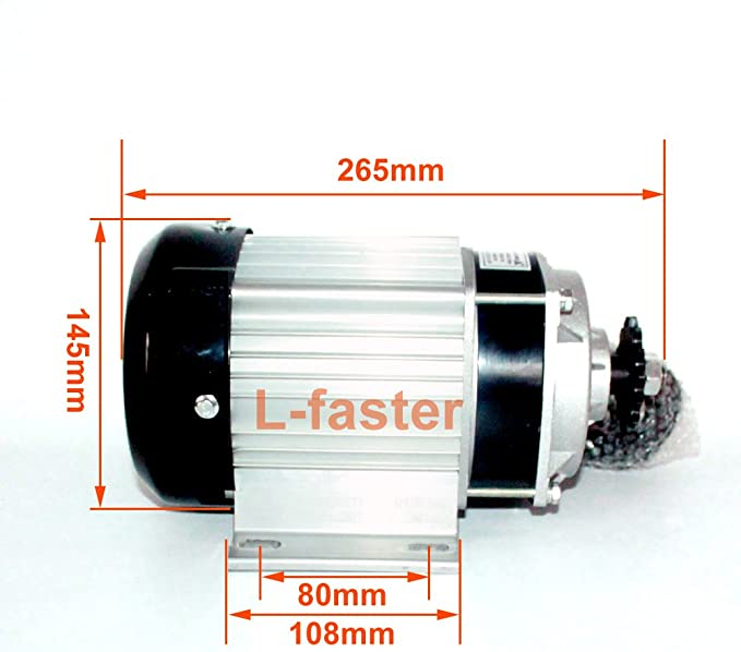 Amazon.com: 48 V motor de 750 W Brushless Motor eléctrico ...