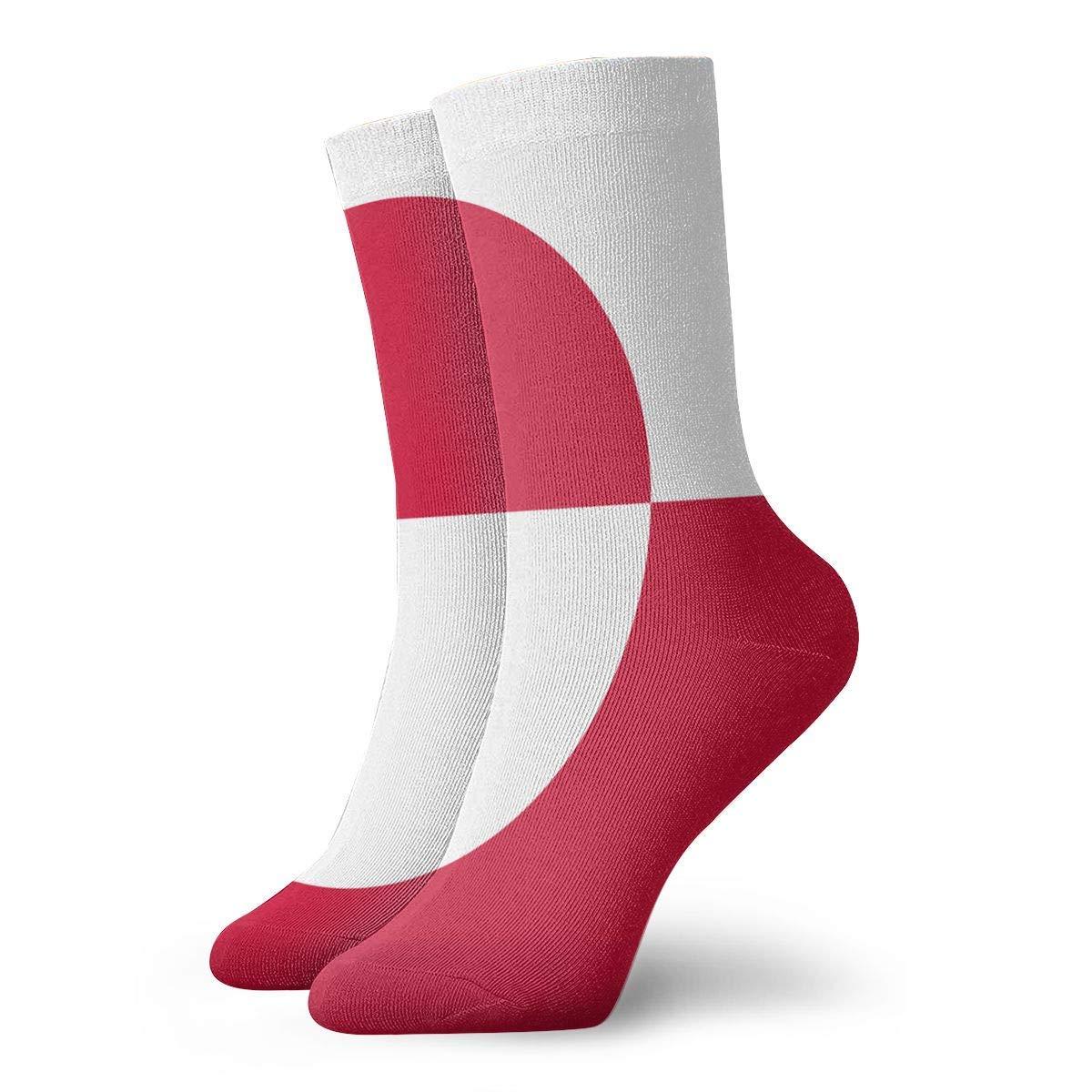 MIPU SHANGMAO Flag Of Greenland Mens Long Sports Socks Baseball Soccer Sock