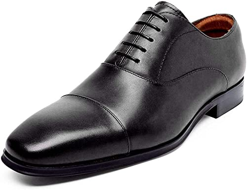 Mens Black Lace Up Shoes Italian Smart Shiny Style Leather Wedding Office Size