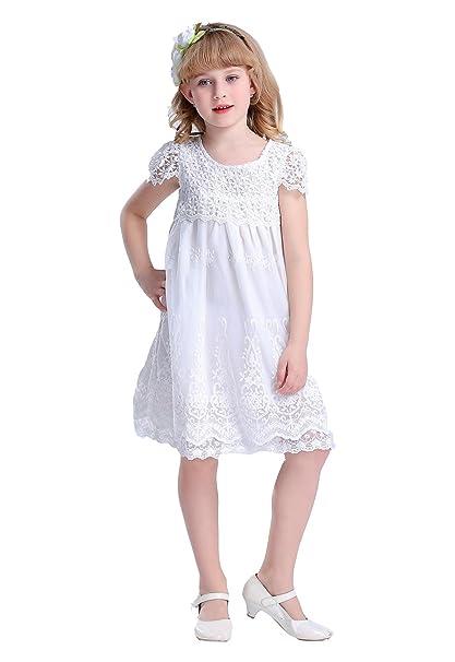 Bowdream - Vestido - trapecio - para niña Marfil blanco crema 1 Años