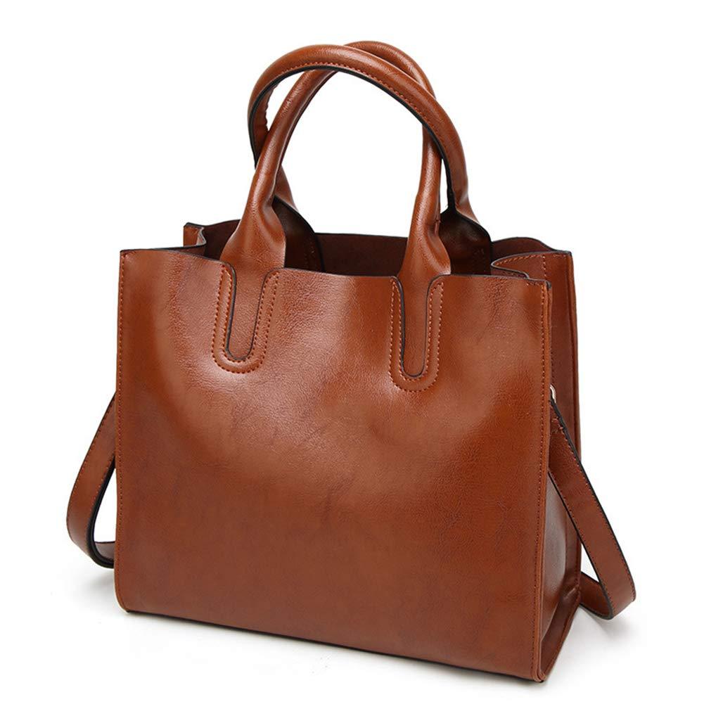 HXXA Damen-Tasche Damen-Tasche Damen-Tasche aus weichem Leder mit Schultergriff und Satchelhandtaschen mit gefettetem Leder B07PHY3MK5 Damenhandtaschen Menschliche Grenze bf8e27