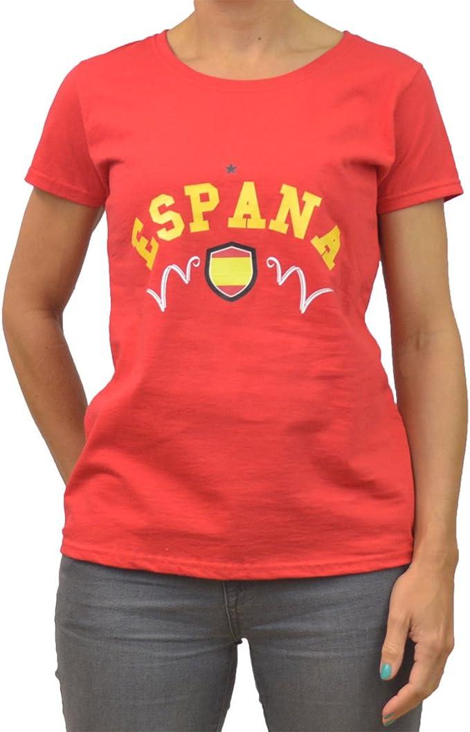 GB Sports - Camiseta para Mujer, diseño de España para la Copa Mundial de la FIFA 2014: Amazon.es: Ropa y accesorios