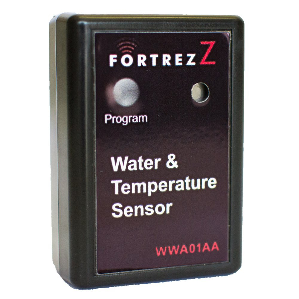 Wireless Water & Temperature Sensor Black w/ Buzzer; Cert ID: ZC08-09050007 by FortrezZ