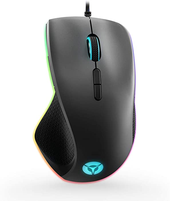 Lenovo Legion M500 RGB Gaming Mouse, Up to 16000 DPI 50G 400Ips, 7 Programmable Buttons, 3 Zone 16.8Milion Colors RGB, 10G Optional Magnet Weight, 3 Onboard Profile, 50 Million L/R Button Durability