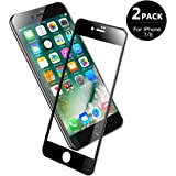 V VONTOX Vetro temperato Compatibile con iPhone 7/8[2 Pezzi], Pellicola Protettiva 3D Perfetto - Full Glass Protegge Il Display Completo - 9H Durezza, antiolio, Scratch e Bubble Free(Nero)