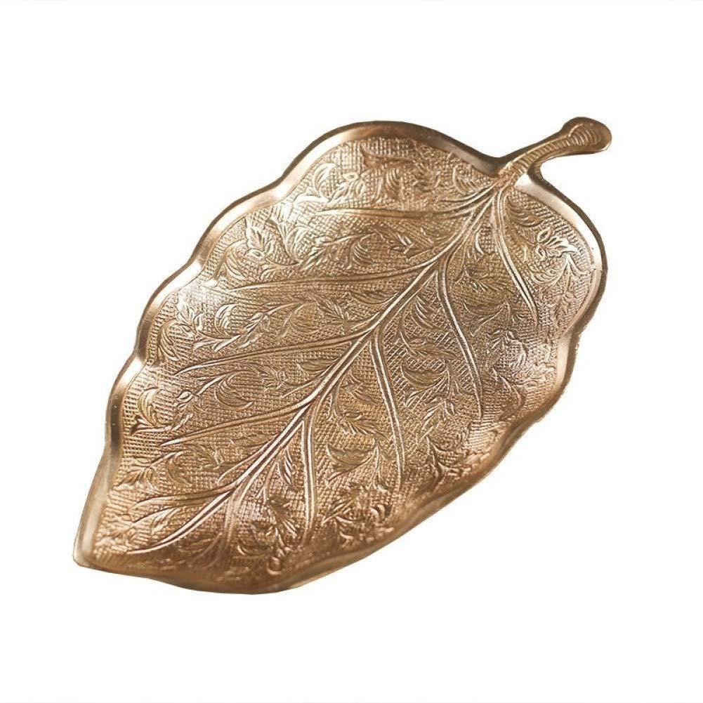 Articoli casalinghi R& Y R& Y Ottone puro europeo fatto a mano vintage intagliato foglie di frutta secca caramelle indiano posacenere decorazione scatola di sapone