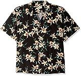 Paradise Found Star Orchid Black Tom Selleck Magnum PI Hawaiian Shirt