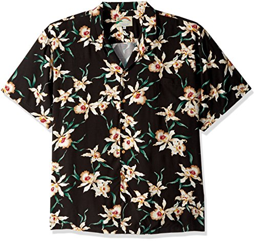 Paradise Found Star Orchid Black Tom Selleck Magnum PI #2 Hawaiian Shirt BLACK XL