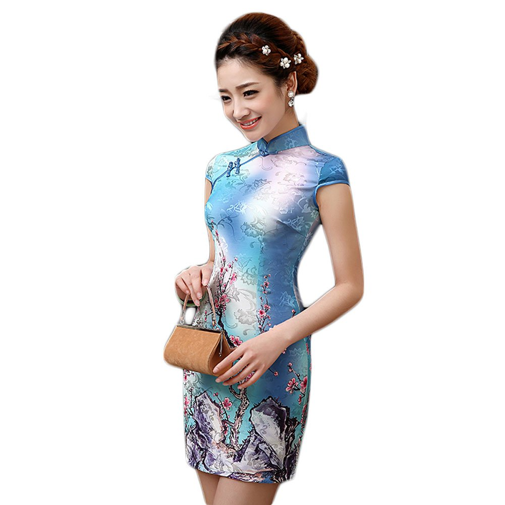 EXCELLANYARD Women's Cotton Chinese Qipao Cheongsam Dress 0