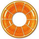 """Pool Central Fruit Inflatable Swimming Pool Inner Tube Ring Float, 42"""", Orange"""