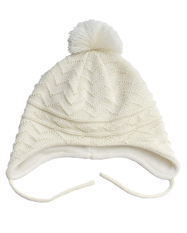 UMIPUBO Bonnet B/éb/é Hiver Plus Velours Coton Chapeau Mignon Boule de Cheveux Chaud Casquettes Prot/éger Les Oreilles Beanie pour Fille Gar/çon 0-8 Ans
