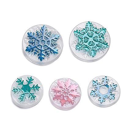 SUPVOX 5 Piezas de Resina de Navidad moldes de fundición de Silicona Copos de Nieve Joyas