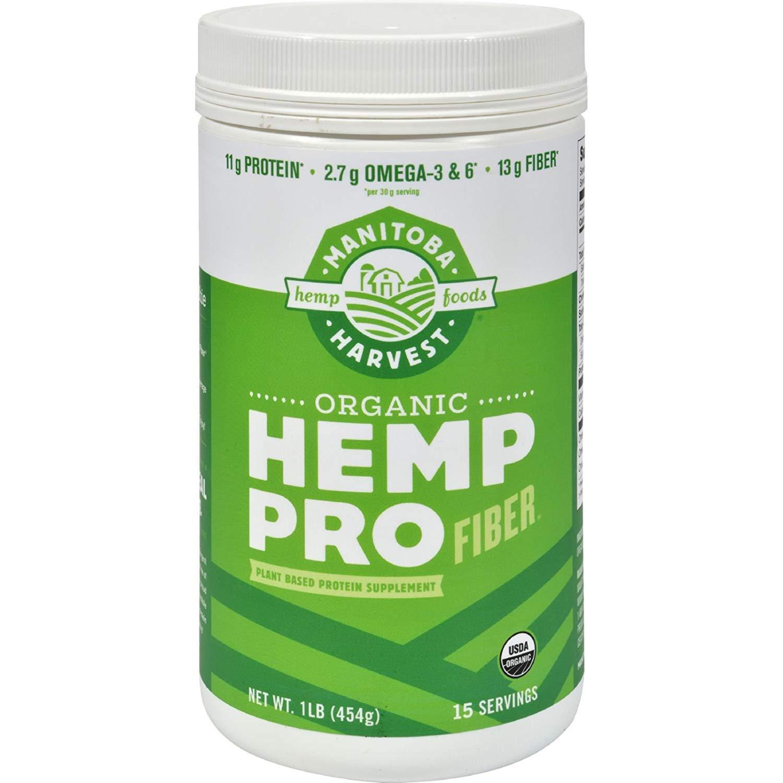 2Pack! Manitoba Harvest Organic Hemp Pro Fiber - 16 oz