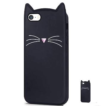 HopMore Gato Funda para iPhone 5S / SE / 5 Silicona Motivo 3D Carcasa Divertidas Gato TPU Gel One Piece Ultrafina Slim Case Antigolpes Caso Protección ...