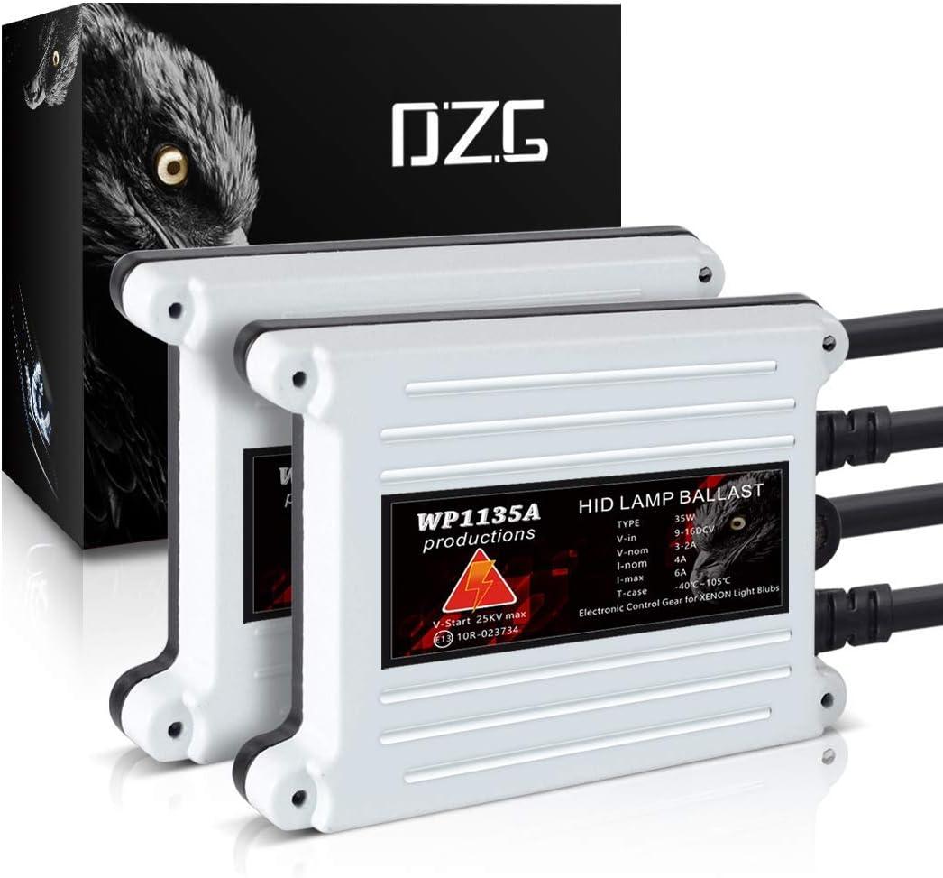 DZG D2S 8000K HID Xenon Headlight Bulbs 35W 12V Car Headlamp 2 Pack