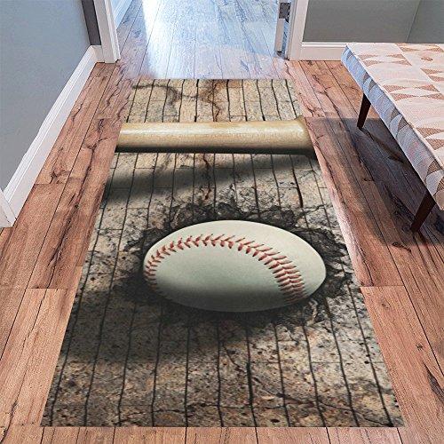 Love Nature Sweet Home Stores Collection Custom Baseball Runner Rug Carpet 10'x 3'3'' Indoor Soft Area - Rug Runner Baseball