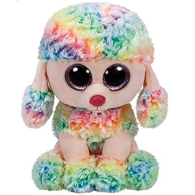 Ty Beanie Boo Rainbow Poodle Medium: Toys & Games
