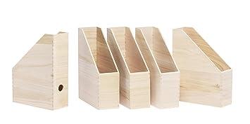 Stehsammler holz  5er-Pack Stehsammler aus Holz von VBS Zeitschriftenbox Steh-Ordner ...