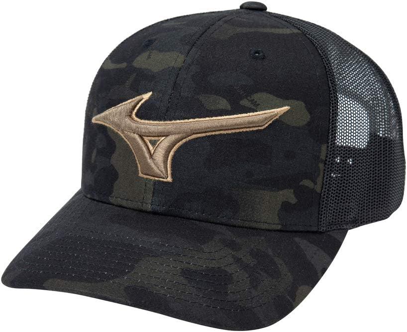 Mizuno Diamond Trucker Hat, Black Camo, OSFM: Clothing