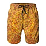 running board carpet - Richard Lyons Middle Eastern Old Fashioned Persian Carpet Design Retro Oriental Men's Quick Dry Beach Shorts Casual Comfortable Surf Shorts M