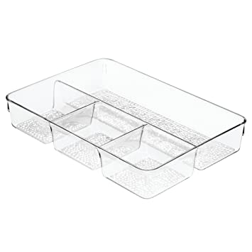 InterDesign Rain Cosmetic Drawer Organizer Tray for Vanity Cabinet to Hold Makeup  Beauty Products. Amazon com  InterDesign Rain Cosmetic Drawer Organizer Tray for