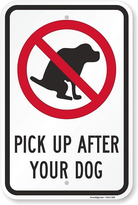 Amazon.com: Pick Up después de su perro (con símbolo de ...