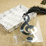 Gifts For Readers, Lotus.flower Music Note Shape Metal Alloy Bookmark Novelty Ducument Book Marker Label Stationery