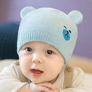 Bonnet Bébé - Enfant Crochet Casquettes Chaud avec Ours Oreilles - hibote   Amazon.fr  Bébés   Puériculture b3dc28266ac