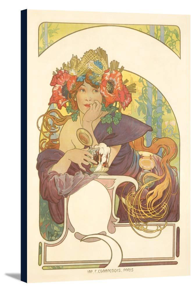 Bieres de la Meuseヴィンテージポスター(アーティスト: Mucha、Alphonse )フランスC。1897 24 x 36 Gallery Canvas LANT-3P-SC-65587-24x36 B0184B1R12  24 x 36 Gallery Canvas