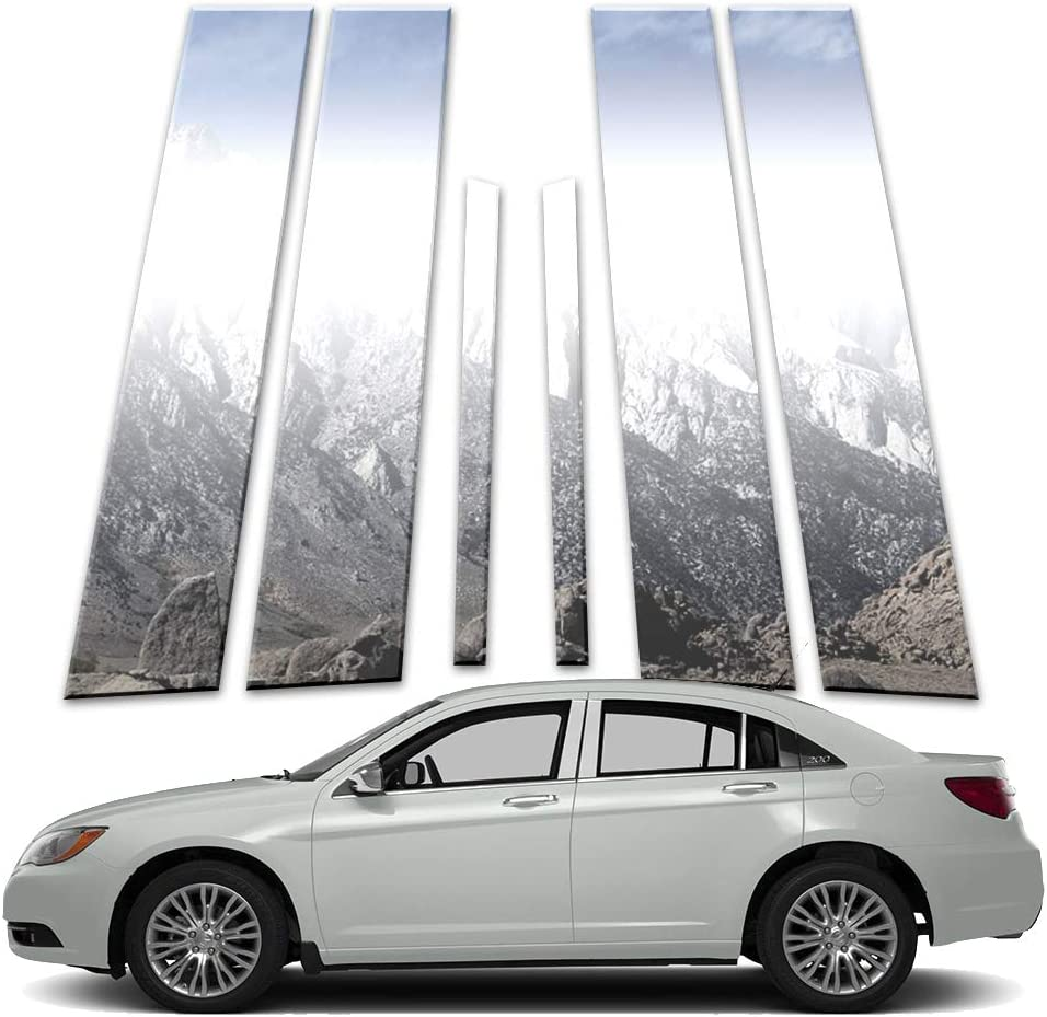 Brighter Design 6p Stainless Pillar Post Covers fits 2011-2014 Chrysler 200