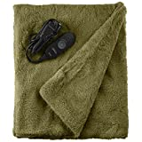 Sunbeam LoftTec Heated Throw with EliteStyle Controller, Sage