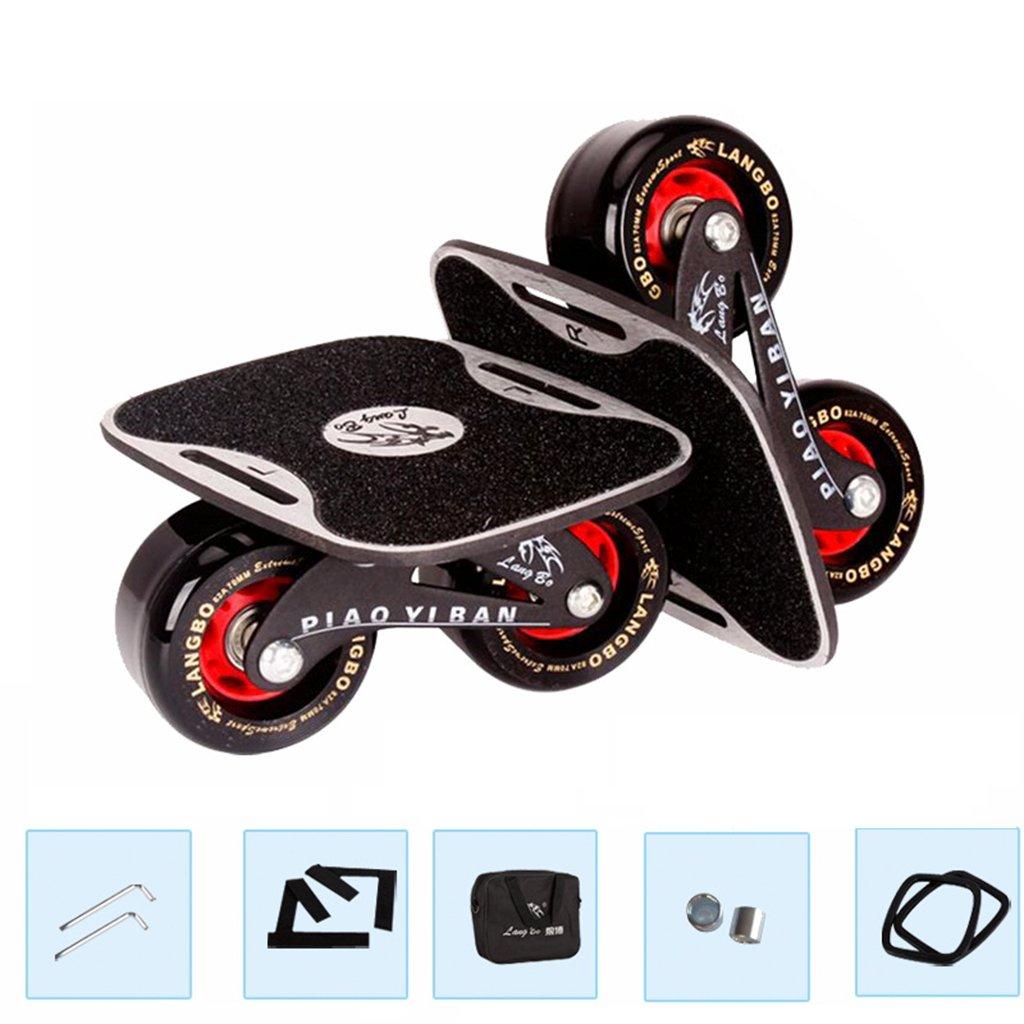 限定版 ドリフトフリーラインスケート大人のフラッシュチルドレン四輪スケートボードトランスポートロードマットブラック B07FLXJZX9 B07FLXJZX9 Red Red Red, 宝石流通ジェムラインジャパン:1140ac8d --- a0267596.xsph.ru