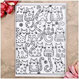 Kwan Crafts Cats Background Clear Stamps for...